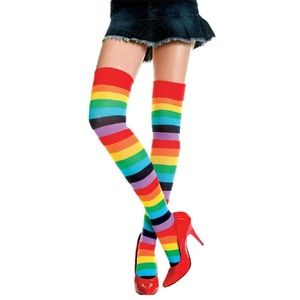 Accessories - 🌈Sexy Rainbow Thigh High Over The Knee Stockings